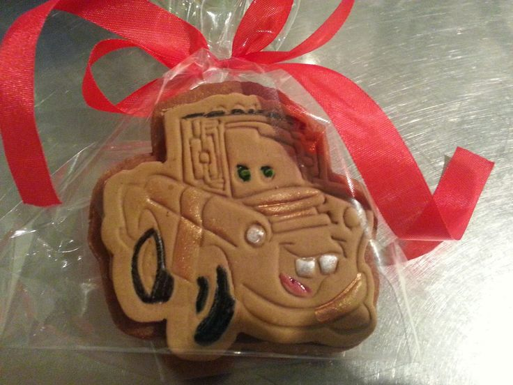 Tow Mater cookies made using our Tow Mater plunger cutter & embosser set from Kiwicakes