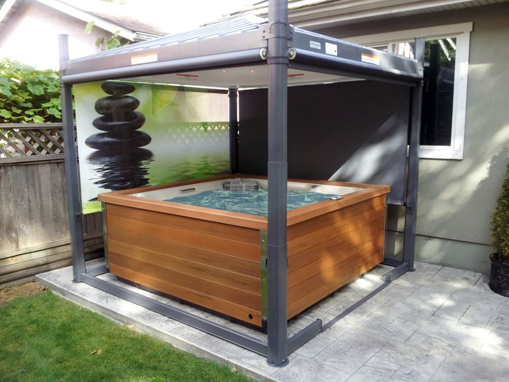 41 best hot tub covers lifts and steps images on for Abri mural gazebo
