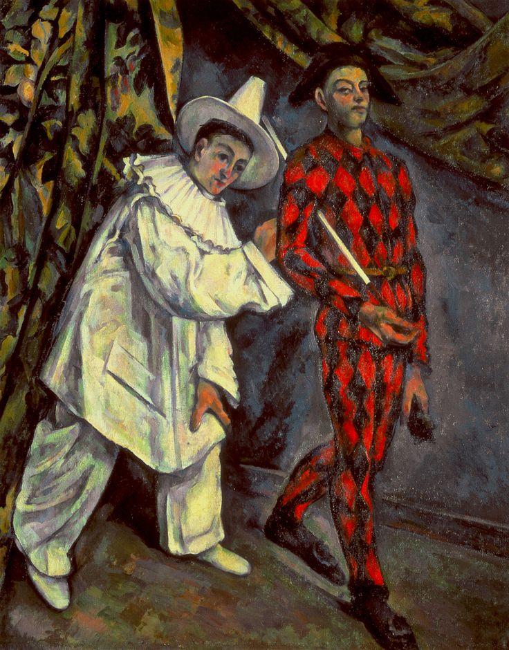 Mardi Gras (1888)  PaulCezanne  Óleo sobre lienzo 102 x 81cms. Museo Pushkin, Moscu                                                                                                                                                                                 Más