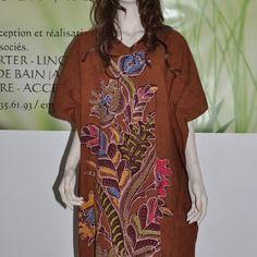 Djelaba batik pekalongan-indonesie taille unique
