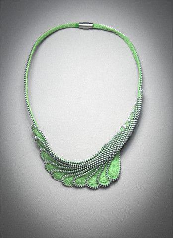 "Zipper Necklace, ""Lift"" – Mora Designer Jewelry"