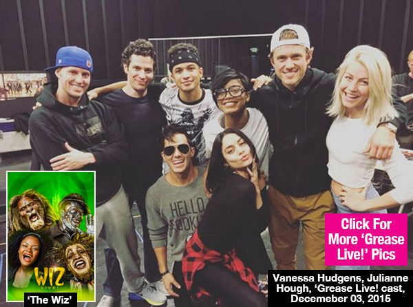Vanessa Hudgens, Julianne Hough & 'Grease: Live' Cast Watch 'The Wiz' Together — Pics