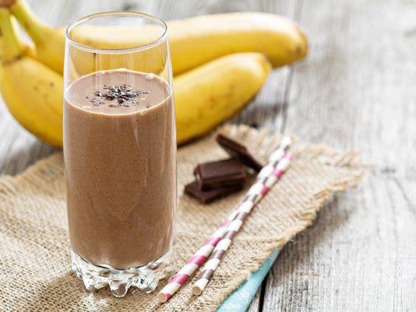 Receta de batido de plátano con chocolate