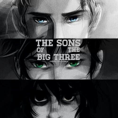 Los hijos de los tres grandes, jason frace, percy jackson, nico di angelo.