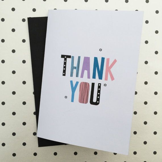 Thank you card by HeidiLDesign on Etsy