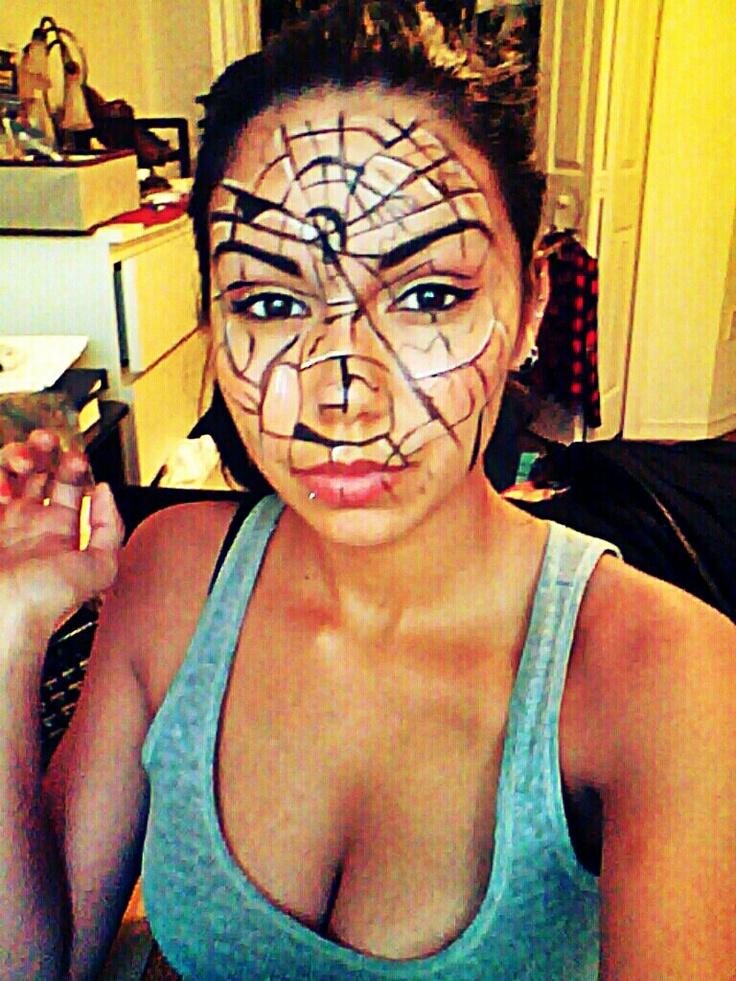 Broken mirror face paint | My makeup | Pinterest | Broken ...
