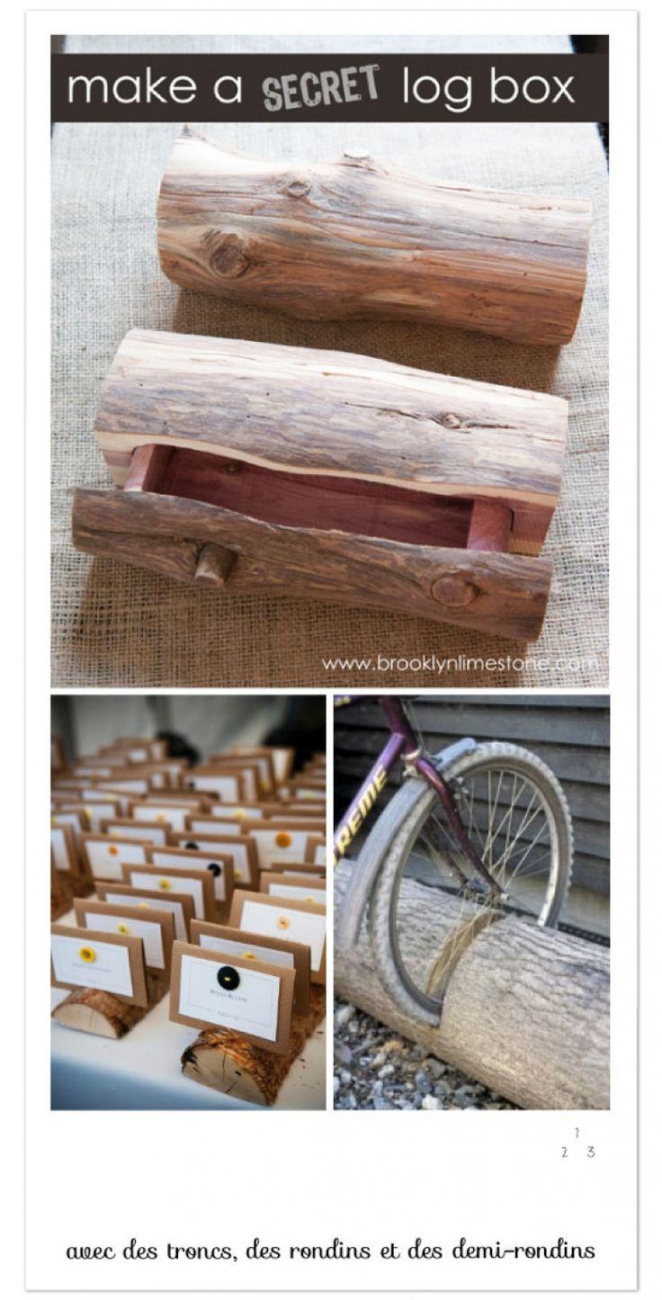 Regardez tout ce qu'il est possible de faire à l'aide de troncs et de rondins de bois! De quoi apporter un peu d'originalité dans votre appartement/maison! Regardez:...