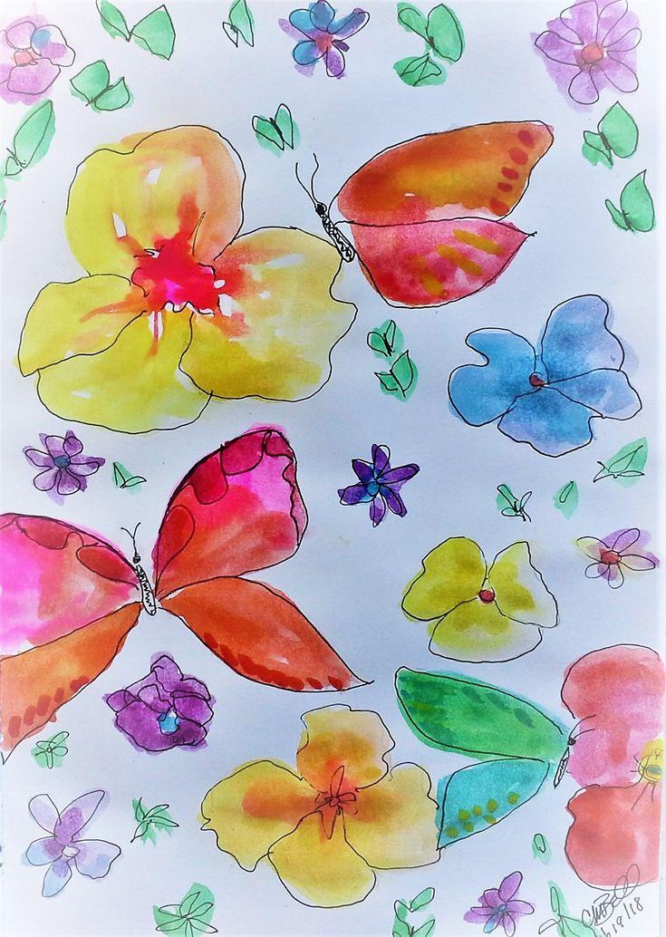 Butterflies - Daily sketchbook Cindy M. Bell