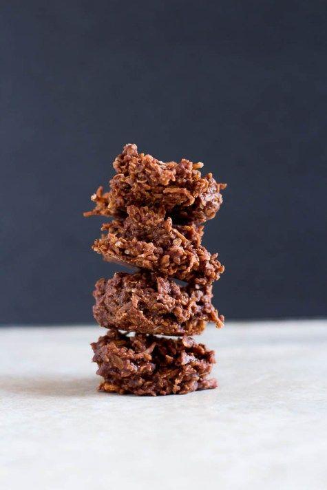 No-Bake Chocolate Coconut Haystack Cookies