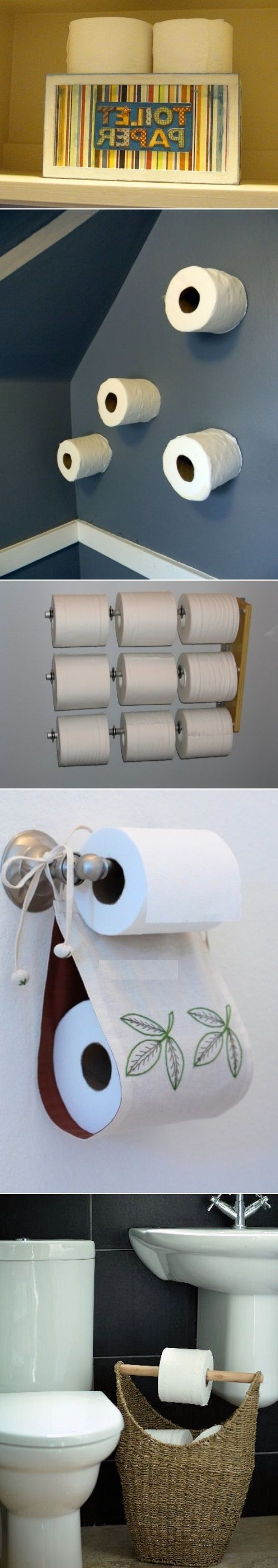 Diy toilet paper storage solutions for the home for Diy toilet paper storage ideas