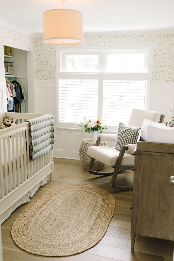 Cozy neutral nursery: http://www.stylemepretty.com/living/2016/09/29/how-to-add-a-personalized-touch-to-your-dream-nursery/ Photography: Anne-Marie Bouchard - http://ambphoto.com/
