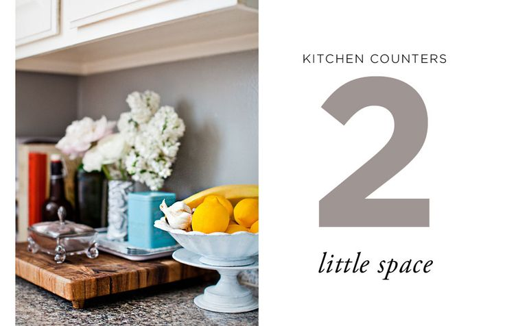 How to Style Kitchen Counters: Little Space. Styling by Caitlin Flemming of Sacramento Street.