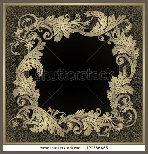 75ad-vector-ornamental-frame-vintage-baroque-style-129786455.jpg (515×537) Would be a beautiful cushion.