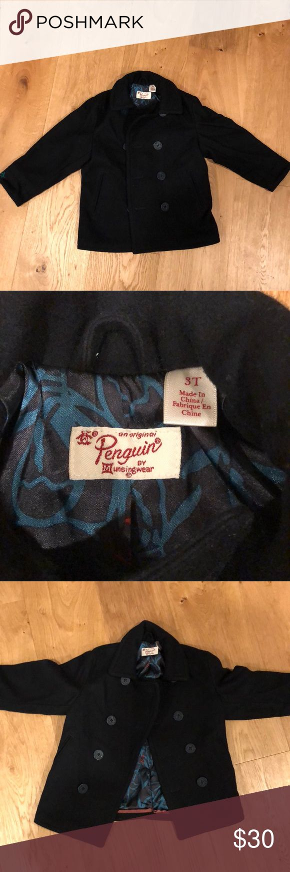Penguin brand Toddler pea coat Penguin Toddler Pea coat // Brand New, no tags Original Penguin Jackets & Coats Pea Coats