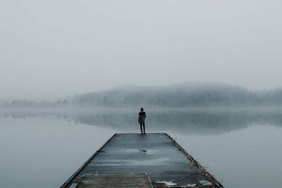 Linn Florin - Get lost, and find yourself. still water and fog.