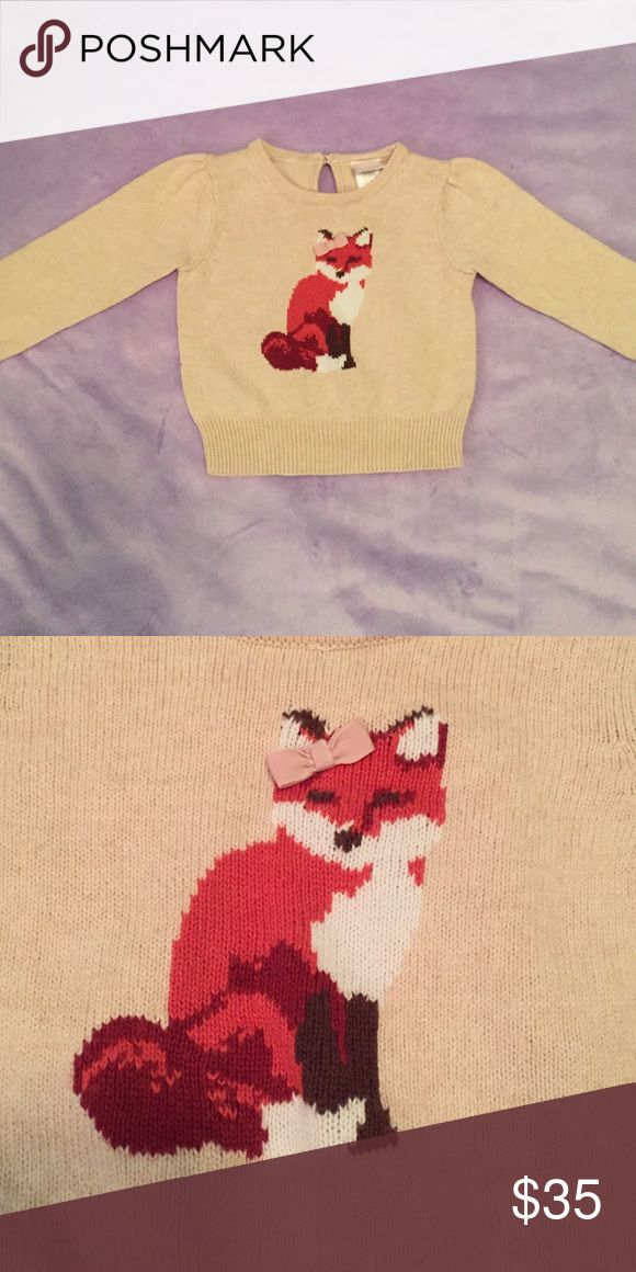 VHTF!  Janie and Jack autumn Equestrian fox Beautiful Autumn Equestrian fox sweater.  It breaks my heart to let this go!  EUC 6-12m Janie and Jack Shirts & Tops Sweaters