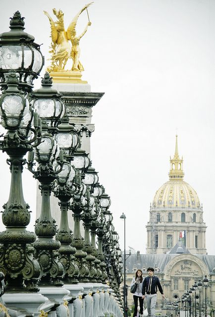 Pont de Alexandre III, Paris designed by the architects Joseph Cassien-Bernard and Gaston Cousin, built by engineers Jean Résal and Amédée d'Alby (1900)