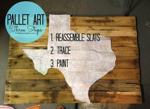 Pallet Art | How to Make Pallet Art | Tips and Tricks | Crafty Texas Girls
