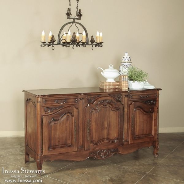 Unique French Country Antique Furniture Buffets Walnut Buffet On Inspiration