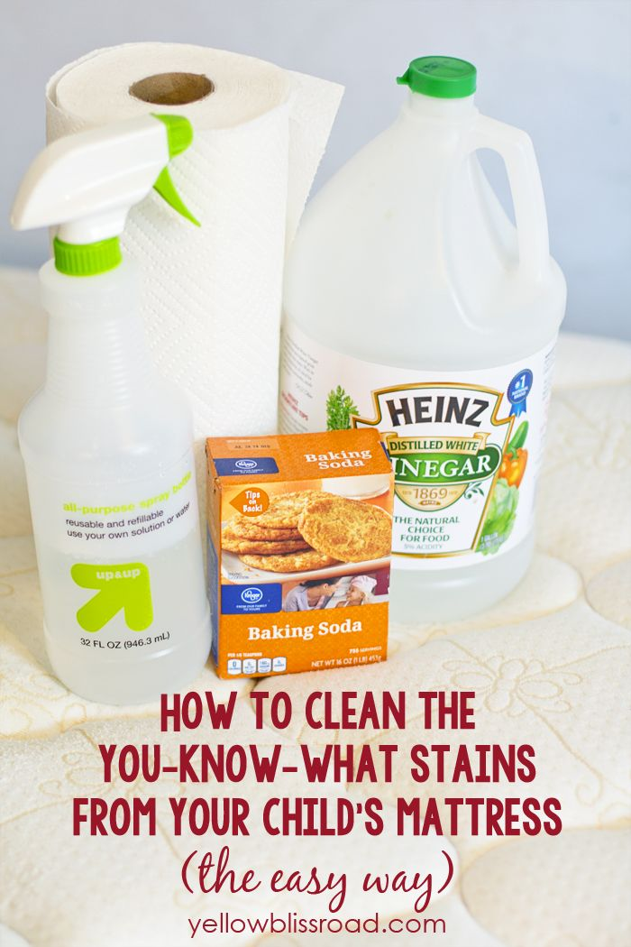 How to Clean Urine Stains from a Mattress with vinegar and baking soda