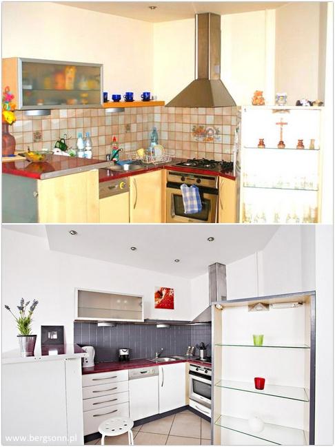 skromna, nieatrakcyjna kuchnia została zamieniona na nowoczesny i w pełni funkcjonalny aneks.    #Mieszkania, #Nieruchomości