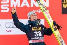 Noriaki Kasai (Japan) ist Dritter beim Skispringen Weltcup in Engelberg / Schweiz | Fotograf Kassel http://blog.ks-fotografie.net/pressefotografie/fis-skispringen-engelberg-schweiz-fotografiert/
