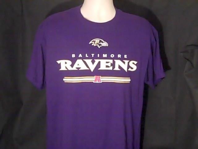 Baltimore Ravens L  NFL Team Apparel Football T Shirt 100% Cotton #NFLTeamApparel #BaltimoreRavens