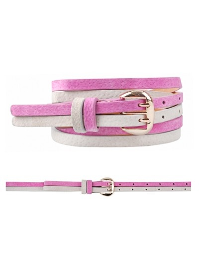 Twin skinny belt in pink and white, AU$14.99, from Ally, Australia.