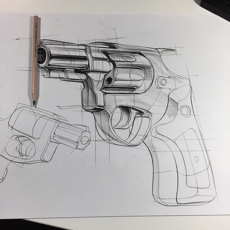"""3,043 Likes, 8 Comments - ⠀⠀⠀⠀⠀⠀⠀⠀i r f a n c i f t c i (@beginace) on Instagram: """"hello again! today , product sketch object , gun. we can see it is a developer product in form…"""""""