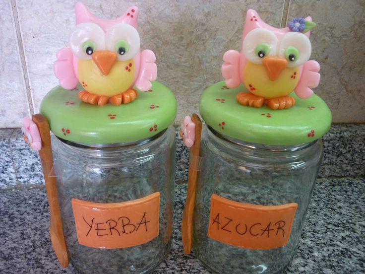porcelana fria en frascos decorados - Buscar con Google