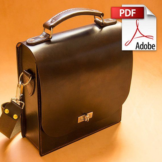 How to Make a Leather Messenger Bag - PDF Sewing Pattern