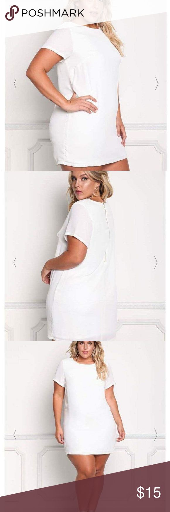 NET DEB SHOP white shift dress BRAND NEW WITH TAGS DEB-SHOP brand white shift dress in white with a gold zipper down the back. It's a very simple dress so there is SO much you can do with it accessory wise. There are many, many options. DEBSHOP Dresses Mini