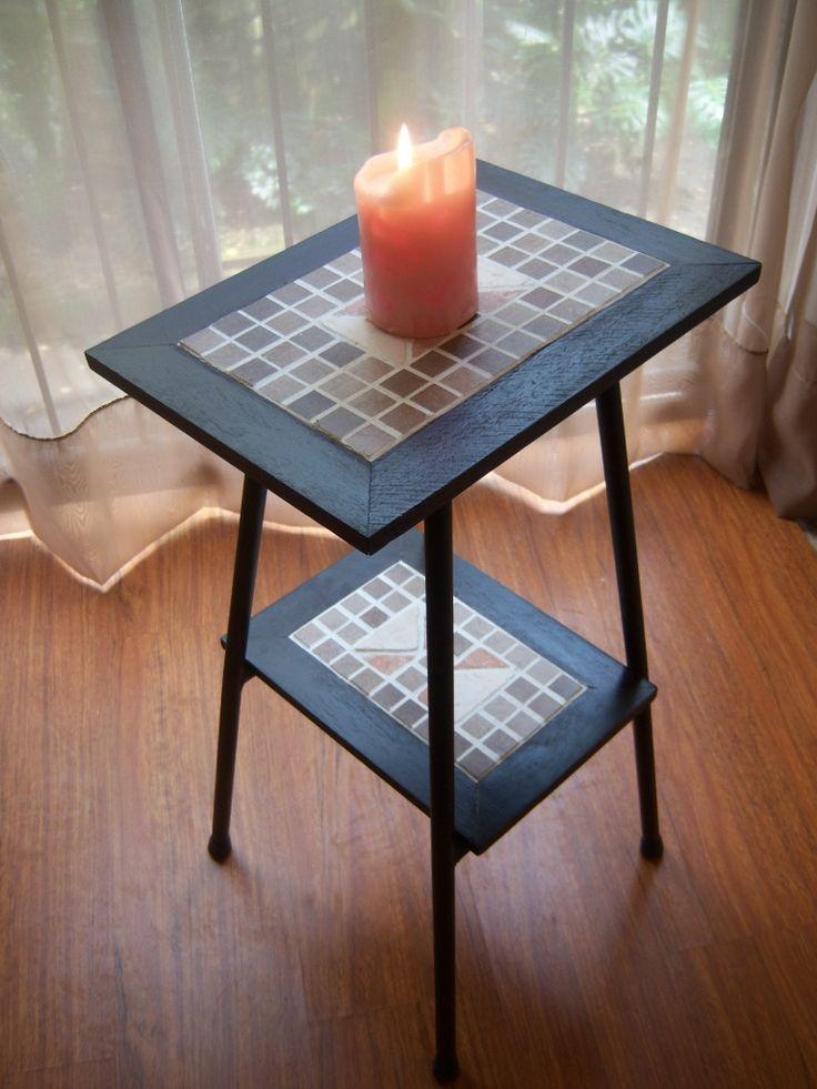 Mesa de Hierro, madera y Mosaico