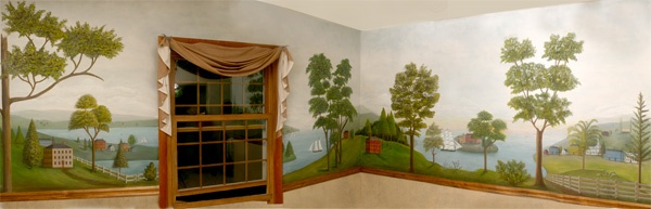 182 best murals and stencils images on pinterest for Colonial mural wallpaper