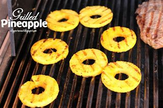 How to (Easily) Grill Pineapple - soaked in brown sugar before grilling - AMAZING