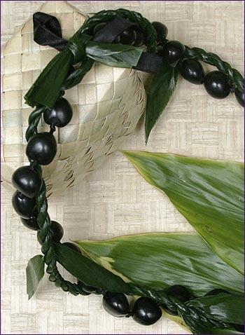 Kukui Nut & Ti Leaf Lei