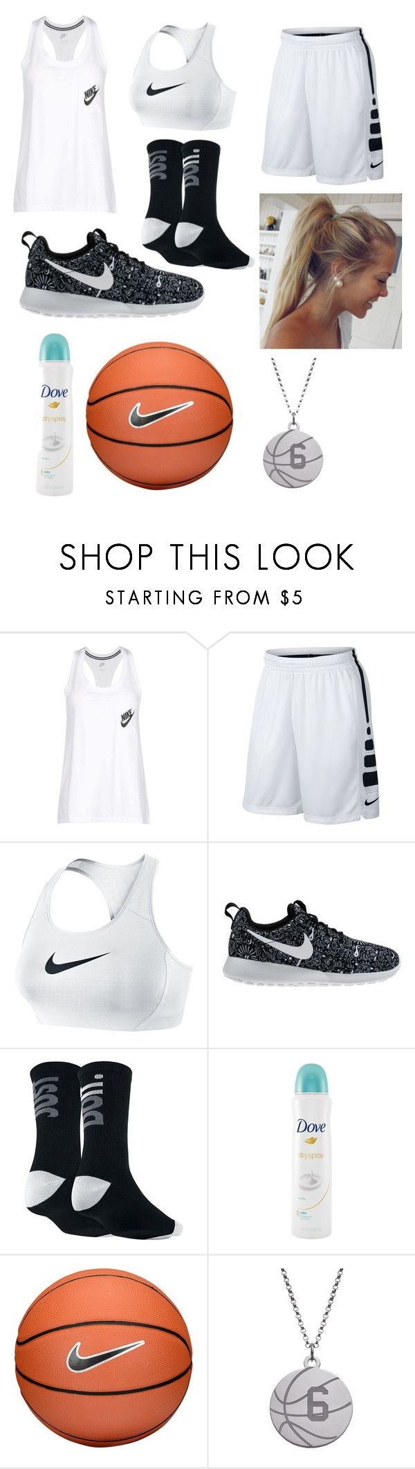 """My basketball practice uniform"" by wishingiwas21 on Polyvore featuring NIKE and Dove"