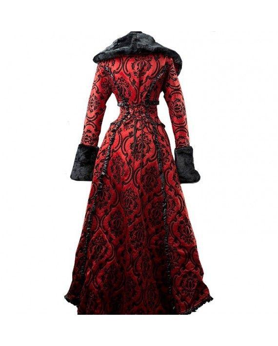 Manteau gothique romantique rouge DS26-1