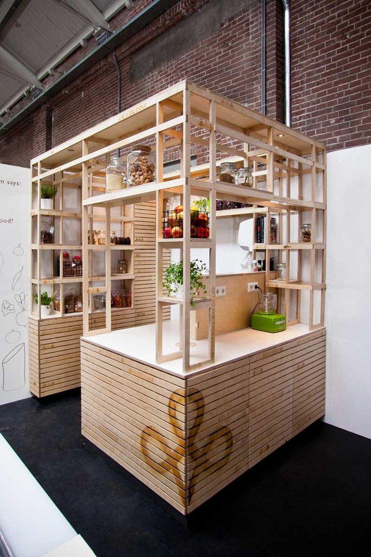 Friska Foodhallen Amsterdam by VanOmmeren Architects VanOmmeren Architects have designed Friska, one of 25 food kiosks in a food hall in Amsterdam.
