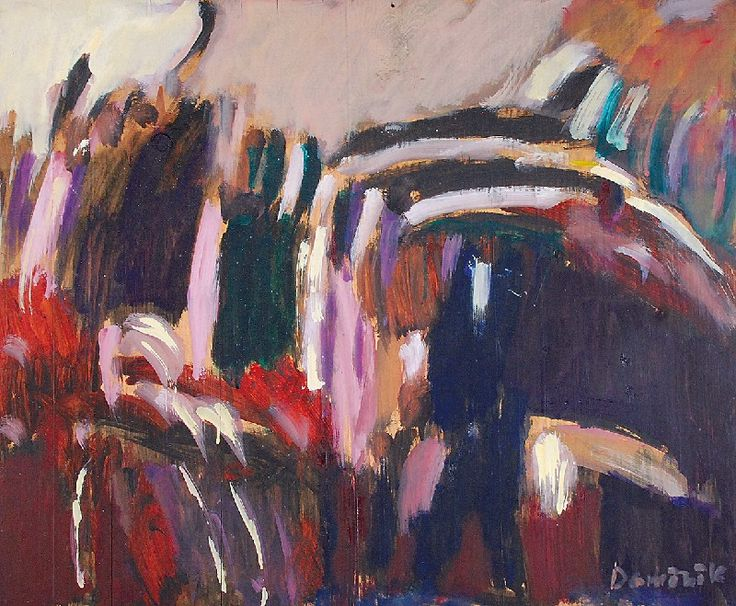 Tadeusz DOMINIK (1928-2014)  Pejzaż, 1957 olej, deska; 44 x 53 cm;