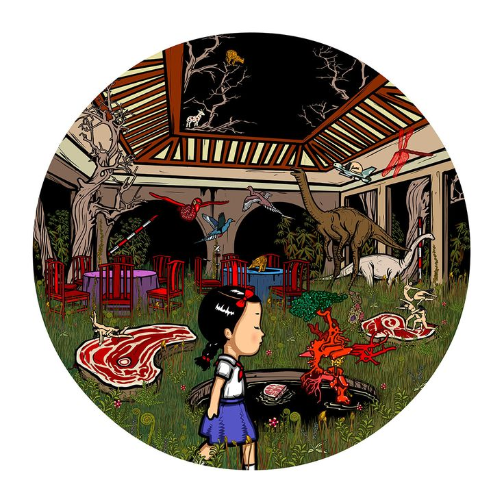"""""""Artificial Fairyland"""" by Bu Hua, featured artist in Issue 709…"""