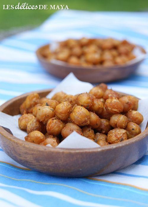 Pois chiches croustillants par Les délices de Maya #vegan #vegetalien http://lesdelicesdemaya.blogspot.se/2013/05/pois-chiches-croustillants.html