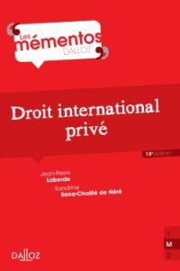 Jean-Pierre Laborde et Sandrine Sana-Chaillé de Néré - Droit international privé. http://catalogues-bu.univ-lemans.fr/flora_umaine/jsp/index_view_direct_anonymous.jsp?PPN=181464837