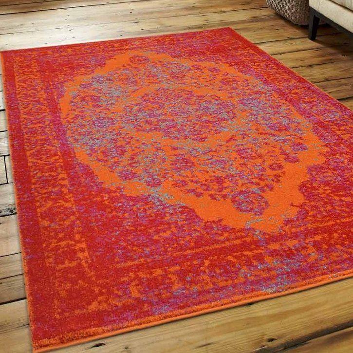 Boxdale Orange/Red Area Rug
