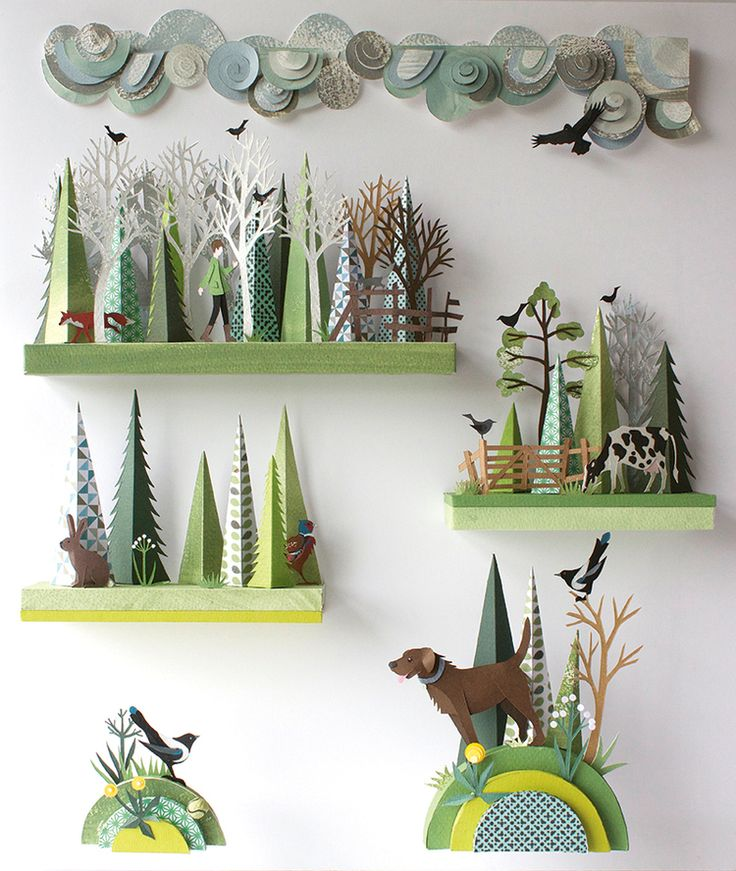 OMG! What a fantastic way to make a 'paper world' a literal 3-D world to experience!!!! Some how this just seems perfect! Of course we would have to make it out of something more substantial...Helen Musselwhite (artist)