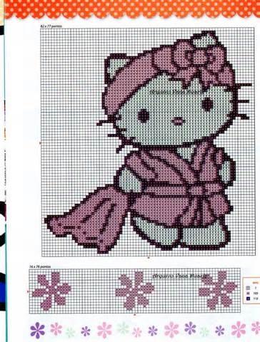 Hello Kitty bathtime cross stitch