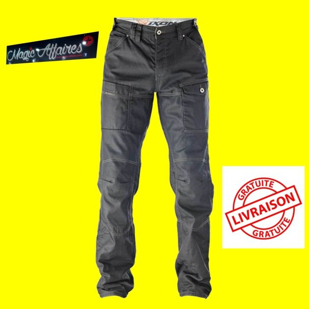 PANTALON HOMME IXON SAWYER BLACK Taille M - 2XL NEUF - SPORTS/VETEMENT MOTO - magic-affaires-22
