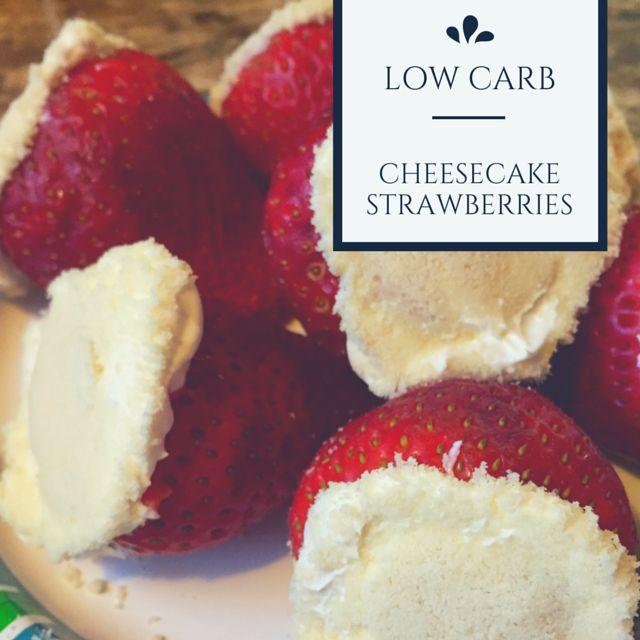 Yep, these cheesecake strawberries for dessert are all I need. #keto #lowcarb #grainfree #sugarfree