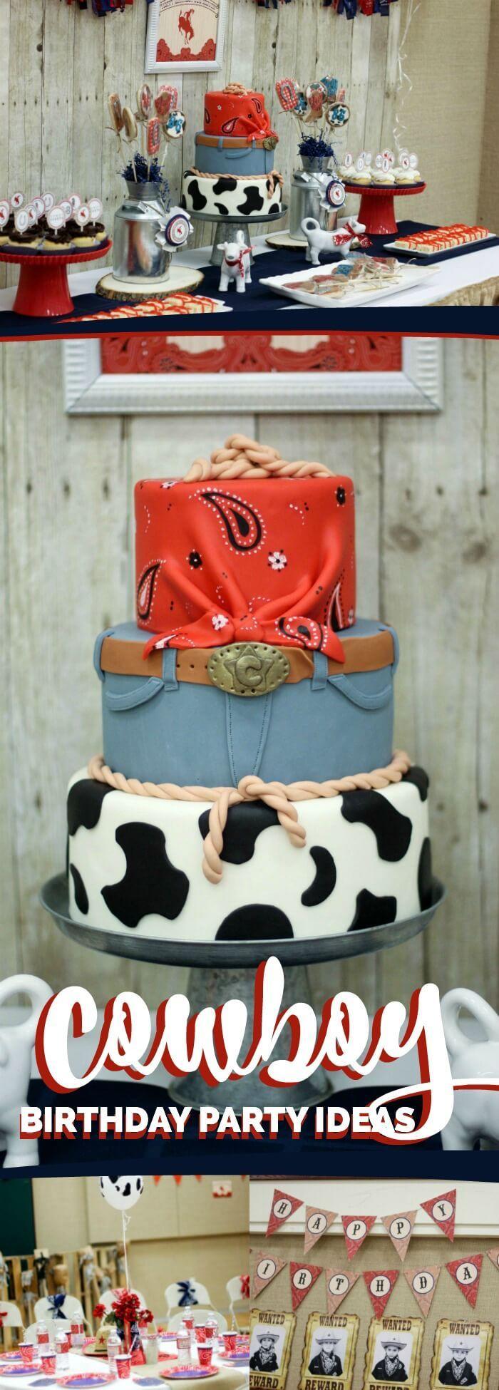 Cowboy Themed Western Birthday Party Ideas