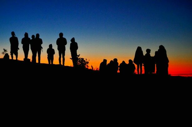 Minute before sunrise
